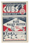 1935 Chicago Cubs vs Philadelphia Phillies Official Baseball Program