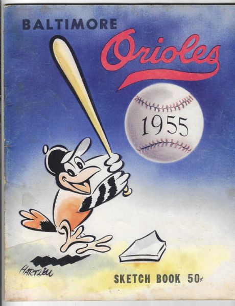 1955 Baltimore Orioles Official Baseball Yearbook