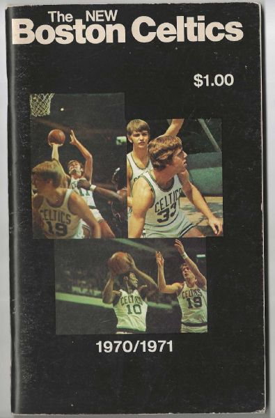 1970-71 Boston Celtics (NBA) Official Yearbook