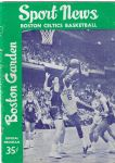 1962-63 Boston Celtics (NBA) Official Program at Boston Garden