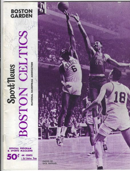 1967 Boston Celtics (NBA) Official Program vs. Baltimore Bullets - Loaded with Autographs