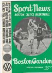 1965 Boston Celtics (NBA) Official Program vs. Cincinnati Royals
