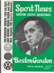 1965 Boston Celtics (NBA) Official Program at Boston Garden