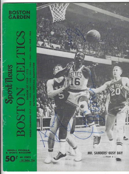 1969 - 70 Boston Celtics (NBA) vs. Detroit Pistons - Several Autographs