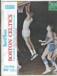 1966 - 67 Boston Celtics (NBA) vs SF Warriors Pro Basketball Program with Ticket Stub