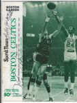 1968 Boston Celtics (NBA) Official Program vs SF Warriors with Multiple Autographs
