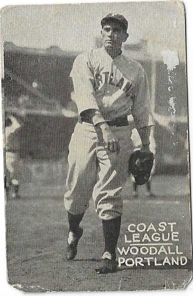 1931 Larry Woodall (PCL) Zee Nut Baseball Card