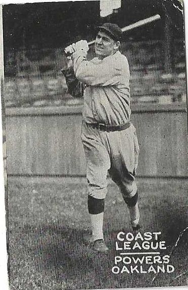 1931 Mike Powers (PCL) Zee Nut Baseball Card