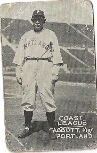 1931 Spencer Abbott (PCL) Zee Nut Baseball Card