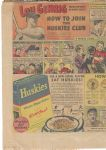 1937 Lou Gehrig (NY Yankees) How To Join The Huskies Club Fold Open Comic Section Ad