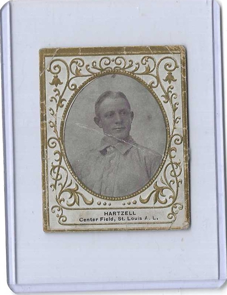 1909 T204 Ramly - Roy Hartzell * St. Louis Browns - Ungraded Raw Tobacco Card