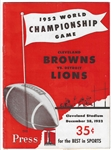 1952 NFL Championship Official Game Program - High Grade