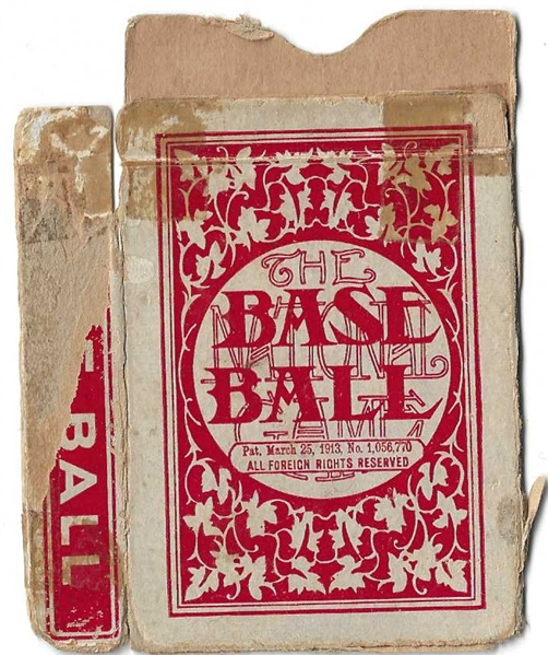 1913 Our National Game Empty Card Display Box