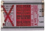 1951 MLB All-Star Game Ticket Stub at Detroit - Lesser Condition