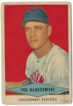 1954 Ted Kluszewski (Cincinnati Reds) Red Heart Baseball Card