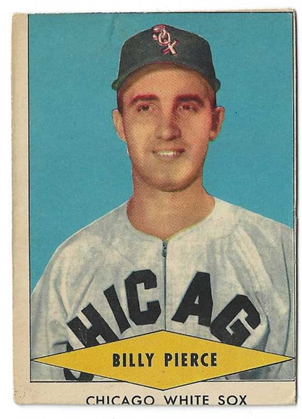 1954 Billy Pierce (White Sox) Red Heart Baseball Card