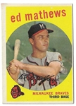 1959 Eddie Mathews (HOF) Topps Baseball Card