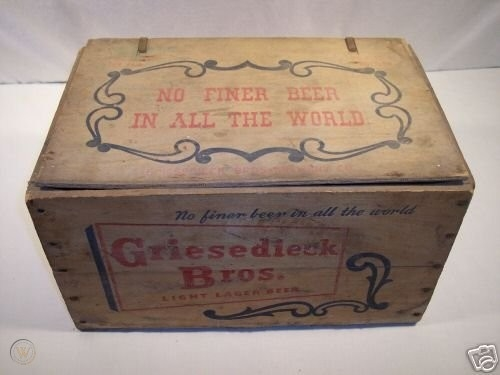 1940's Griesedieck Beer (A Sportsman Park Staple) Empty Wooden Crate