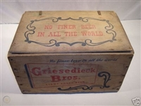 1940s Griesedieck Beer (A Sportsman Park Staple) Empty Wooden Crate