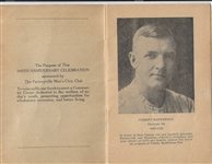 1947 Christy Mathewson (HOF) Day Program at Factoryville, Pa.