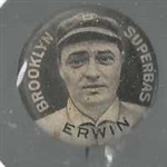1911 Sweet Caporal Pin - Erwin (Brooklyn Superbas)