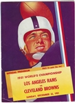 1951 NFL Championship - LA Rams vs. Cleveland Browns - Official Game Program