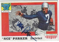1955 Topps All-American Football Card - Ace Parker (HOF) Autographed Football Card