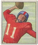 1950 Travis Tidwell Bowman Football Card