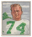 1950 Walter Barnes Bowman Football Card