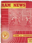1948 LA Rams (NFL) vs. Chicago Cardinals Pro Football Program