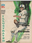 1965 NY Giants (NFL) vs St. Louis Cardinals Official Program