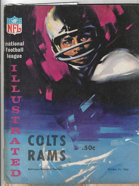 1965 Baltimore Colts (NFL) vs. LA Rams Official Program