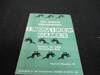 1956 12th Annual (Philadelphia) Inquirer Games Official program at Convention Hall