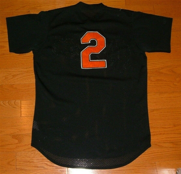 1998 Sam Perlozzo 3rd Base Coach - Baltimore Orioles - Game Worn Jersey