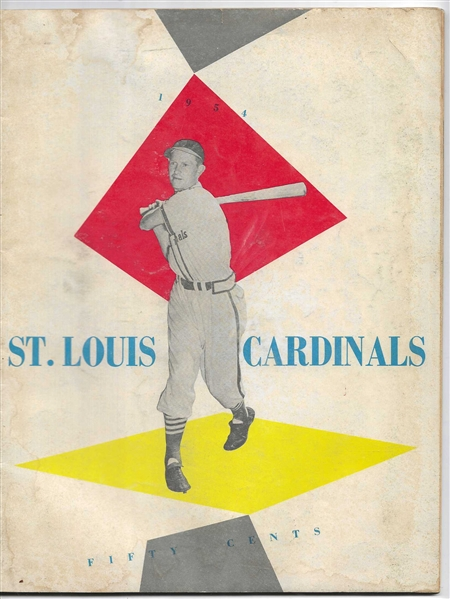 1954 St. Louis Cardinals (MLB) Official Team Yearbook