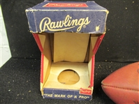 C. Late 1960s Rawlings R100 Model Regulation Size Football With Original Box