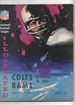 1965 Baltimore Colts vs LA Rams (NFL) Official Program at Baltimore