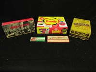 1950s - 2000s Lot of (5) Non-Sport Empty Display Boxes
