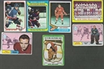 1960s - 1980s Pro Hockey (NHL) Topps Card Lot of (7) with Stars