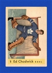 1959 - 60 Ed Chadwick - Parkhurst Hockey Card