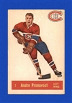 1957 - 58 Andre Pronovost - Parkhurst Hockey Card