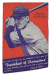 1935 Mel Ott (HOF) Wheaties Baseball Box Panel