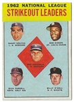 1963 NL Strike-Out Leaders - Koufax, Gibson, Drysdale -  Topps Card - Better Grade