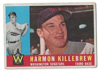 1960 Harmon Killebrew (HOF) Topps Baseball Card - Nice Condition