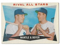 1960 Mantle & Boyer (Rival All-Stars) Topps Baseball Card - Better Grade Card