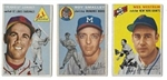1954 Topps Baseball Cards Lot of (3)