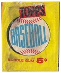 1960 Topps Baseball Wax Pack Wrapper #1