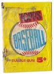 1960 Topps Baseball Wax Pack Wrapper #3