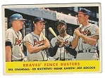 1958 Braves Fence Busters - Aaron, Mathews, Adcock & Crandall - Topps Card