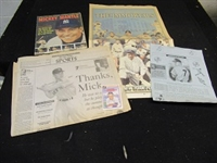 1950s - 80s Mickey Mantle (HOF) Assorted Memorabilia Lot
